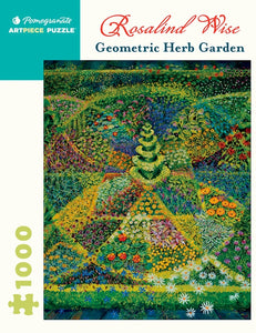 Rosalind Wise: Geometric Herb Garden 1000 Piece Jigsaw Puzzle - Quick Ship - Puzzlicious.com