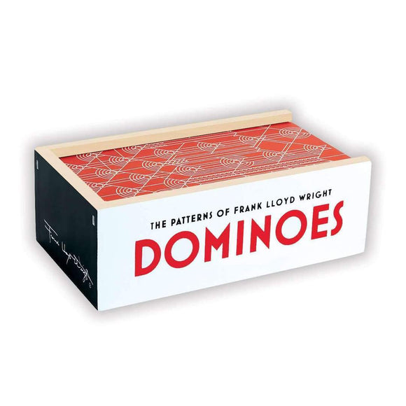 The Patterns of Frank Lloyd Wright Wooden Dominoes Set - Quick Ship