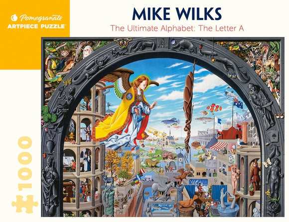 Mike Wilks: The Ultimate Alphabet - The Letter A 1000 Piece Jigsaw Puzzle - Quick Ship