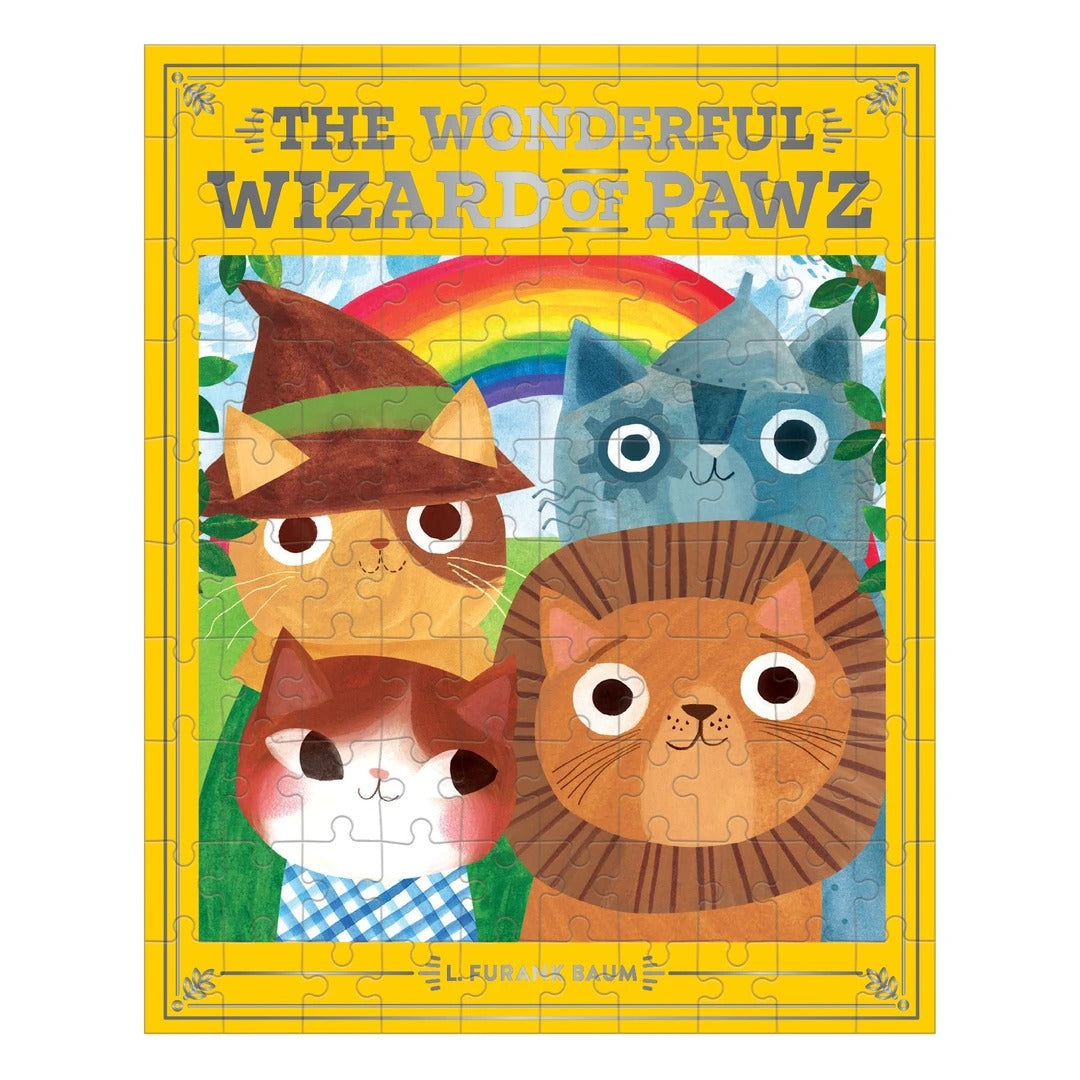 The Wonderful Wizard of Pawz Bookish Cats 100 Piece Puzzle - Quick Ship - Puzzlicious.com
