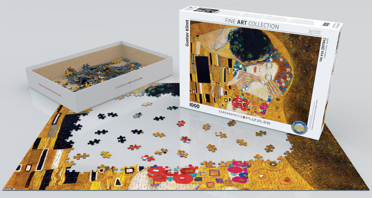 Klimt's The Kiss (Detail) 1000 Piece Puzzle - Quick Ship - Puzzlicious.com