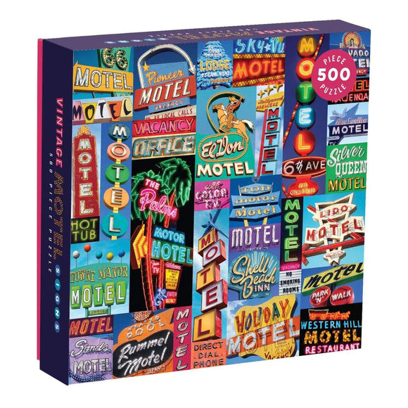 Troy Litten Vintage Motel Signs 500 Piece Puzzle - Quick Ship - Puzzlicious.com