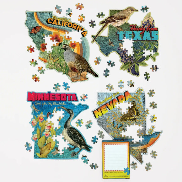 Wendy Gold's California Mini Shaped 100 Piece Jigsaw Puzzle - Quick Ship - Puzzlicious.com