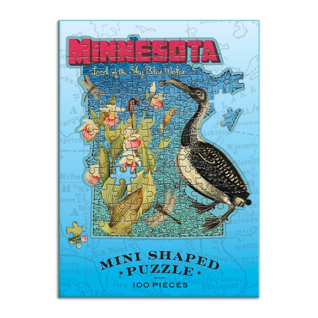 Wendy Gold's Minnesota Mini Shaped 100 Piece Jigsaw Puzzle - Quick Ship - Puzzlicious.com