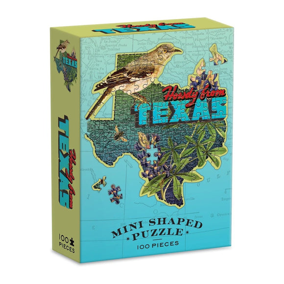 Wendy Gold's Texas Mini Shaped 100 Piece Jigsaw Puzzle - Quick Ship - Puzzlicious.com