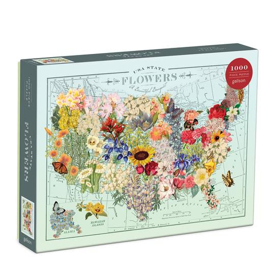 Wendy Gold USA State Flowers 1000 Piece Puzzle - Quick Ship - Puzzlicious.com