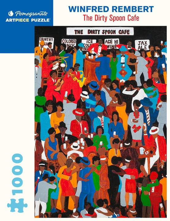 Winfred Rembert: The Dirty Spoon Cafe 1000 Piece Jigsaw Puzzle - Quick Ship - Puzzlicious.com