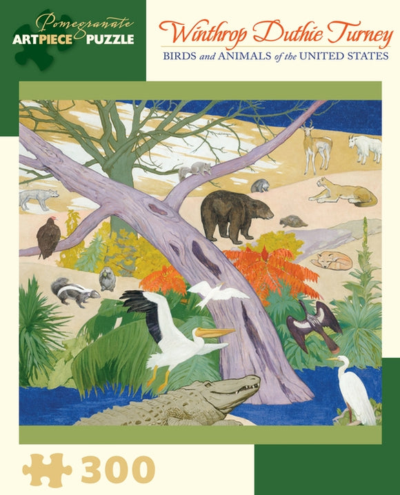 Winthrop Duthie Turney: Birds and Animals of the United States 300 Piece Jigsaw Puzzle - Quick Ship - Puzzlicious.com