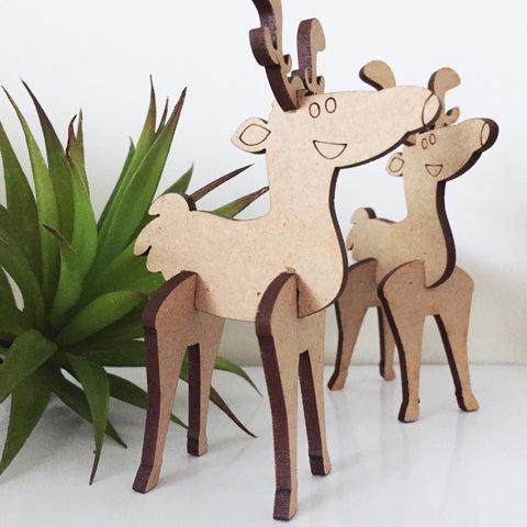 3d Reindeer - Laser Cut Crafts