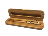 Engraved Bamboo Pen + Box - Laser Cut Crafts