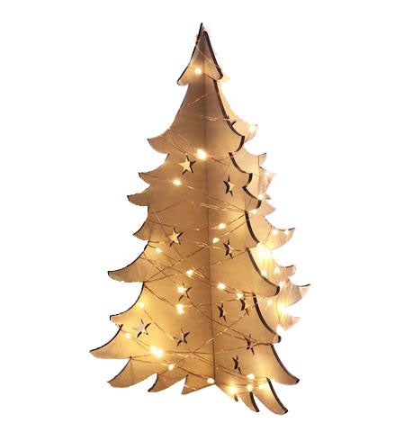 3D Light Up Christmas Tree - Laser Cut Crafts
