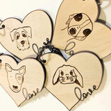 Pet Face Key Tags - Laser Cut Crafts