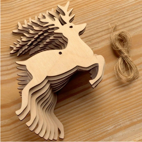 Reindeer Full Body Decoration - Laser Cut Crafts