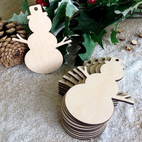 Snowman Decoration - Laser Cut Crafts