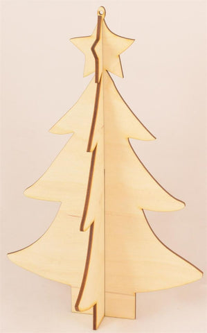 3D Christmas Tree - Laser Cut Crafts