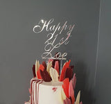 Custom Mirror Cake Toppers - Laser Cut Crafts