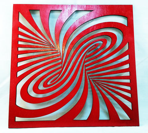 Unique Laser Swirl - Laser Cut Crafts