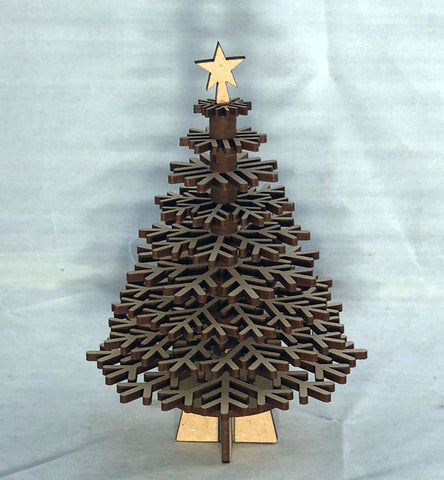 Desk Christmas Tree - Laser Cut Crafts