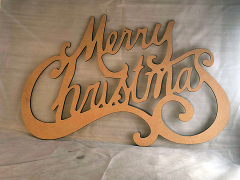 Merry Christmas Sign - Laser Cut Crafts