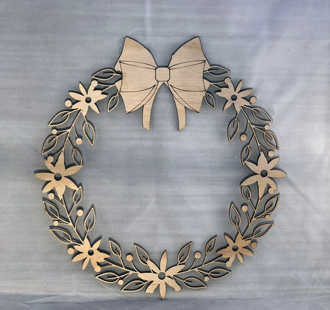 Decorative Wreath 40cm - Laser Cut Crafts