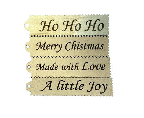 Christmas Tags - Laser Cut Crafts
