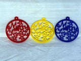 Merry Christmas Bauble Single Or 5 Pack - Laser Cut Crafts