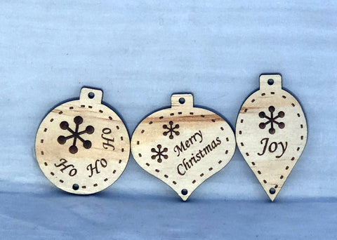 Wood Tree Decorations - Laser Cut Crafts