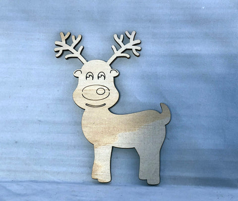 Cute Reindeer Wall Art - Laser Cut Crafts