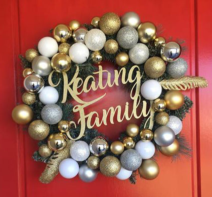 Christmas Wreath Signage - Laser Cut Crafts