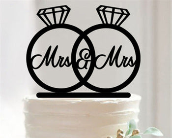 Wedding Rings Cake Topper - Laser Cut Crafts