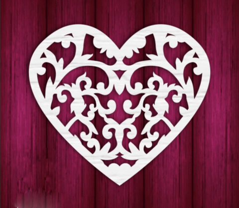 Mothers Day Heart 1 - Laser Cut Crafts