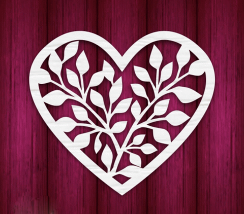 Mothers Day Heart 3 - Laser Cut Crafts