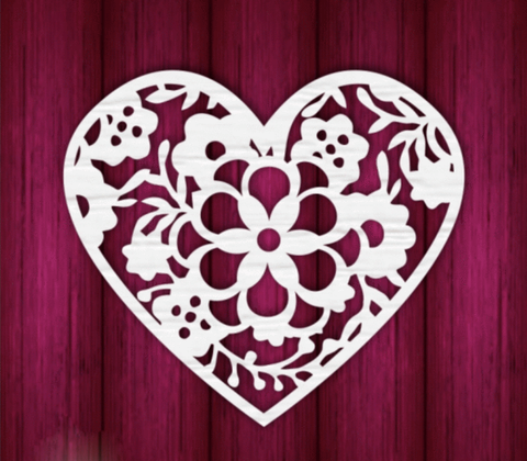 Mothers Day Heart 4 - Laser Cut Crafts