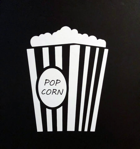 Large Pop Corn Vinyl - Laser Cut Crafts