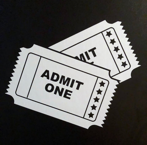 Movie Tickets Vinyl Decal - Laser Cut Crafts