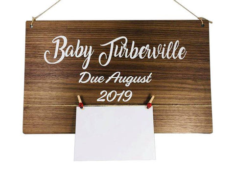 Baby Announcement Boards - Laser Cut Crafts