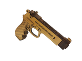 Beretta Hand Gun Pistol (Rubber-band powered Gun) + Free Shipping - Laser Cut Crafts