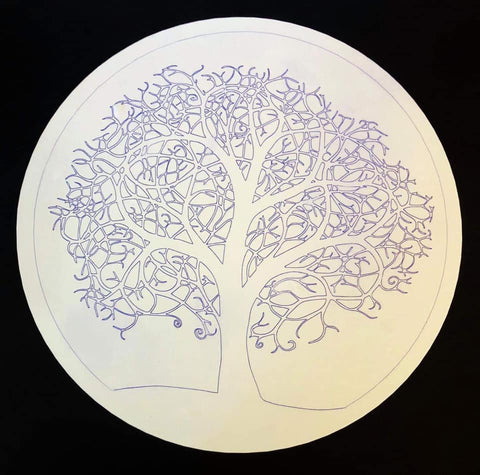 Pen Drawn Tree Of Life - Laser Cut Crafts
