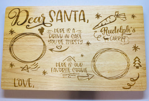 Engraved Santa boards