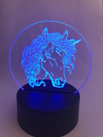 Unicorn Colour Changing LED Lamps - Laser Cut Crafts