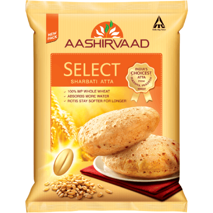 Aashirvaad Select Sharbati Atta 5kg (Export Pack)
