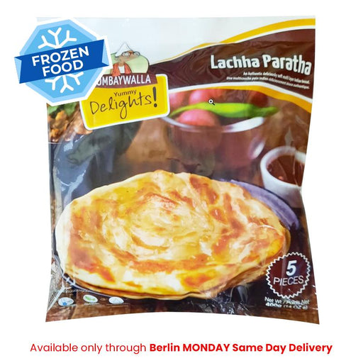 Frozen Bombaywalla Lacha Paratha 400gm  - Only Berlin MONDAY Same Day Delivery