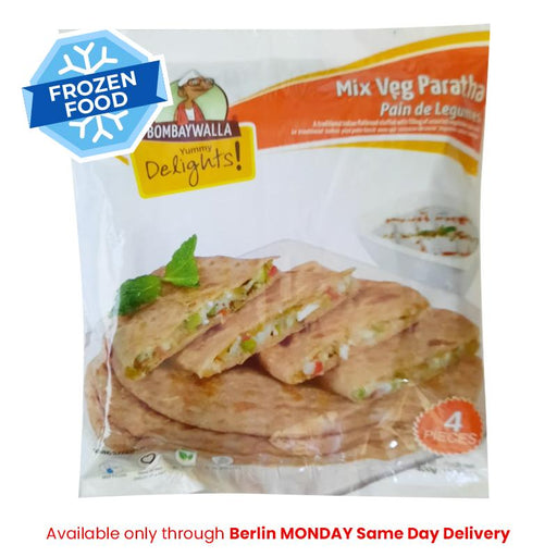 Frozen Bombaywalla Mix Veg Paratha 400gm - Only Monday Berlin Same Day Delivery