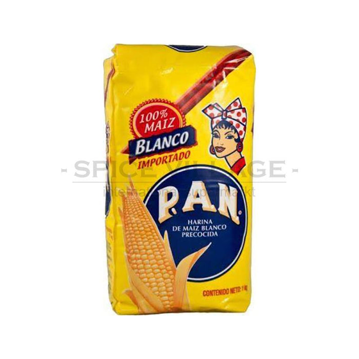 PAN White Corn Flour 1kg Spice Village