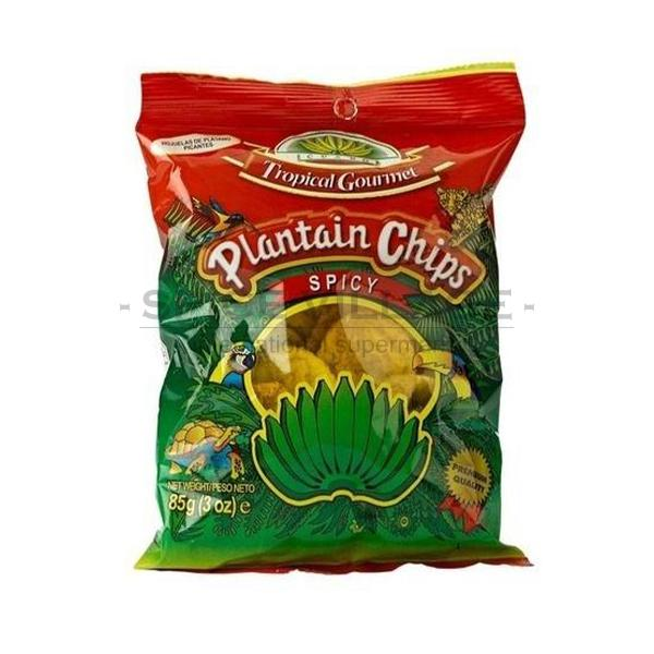 Tropical Gourmet Spicy Plantain chips 85 gm