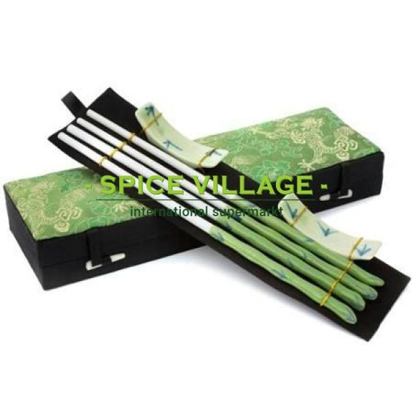 Bamboo ChopSticks Green spicevillage.eu