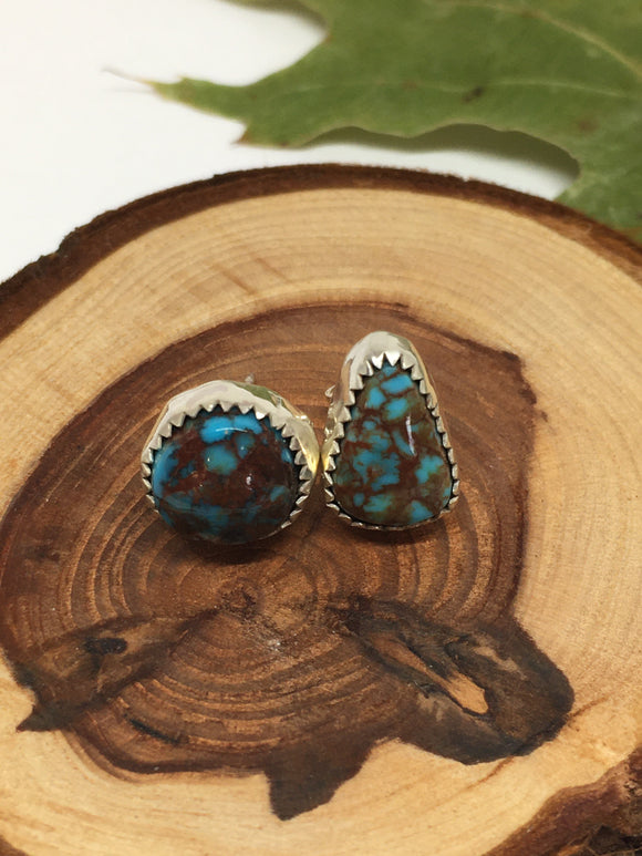Egyptian Turquoise Post Earrings