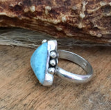 Larimar Ring, Triangle Ring