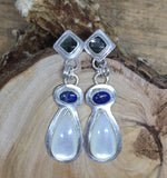 Mother of Pearl Earrings, Lapis Earrings, Labradorite Earring