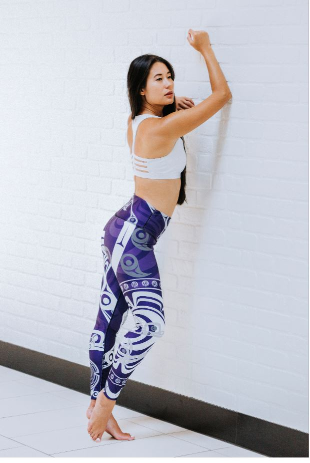 Humming Bird Purple Legging